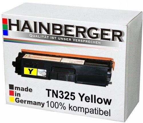 Hainberger Toner Yellow für Brother TN 325 Yellow 3.500 Seiten, kompatibel zu TN 320 / 325 / 328. Geeignet für Brother DCP-9055 Brother DCP-9055 CDN 9270 9270 CDN Brother HL 4140 CN 4150 CDN 4570 CDW 4570 Cdwt 9460 9460 CD 9460 CDN 9460 N 9465 9465 CDN 9970 9970 CDN 9970 CDW -