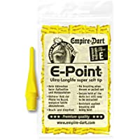 Empire Dart Softdartspitze, E-Point, 2BA, kurz, gelb, 500 Stück, 20871