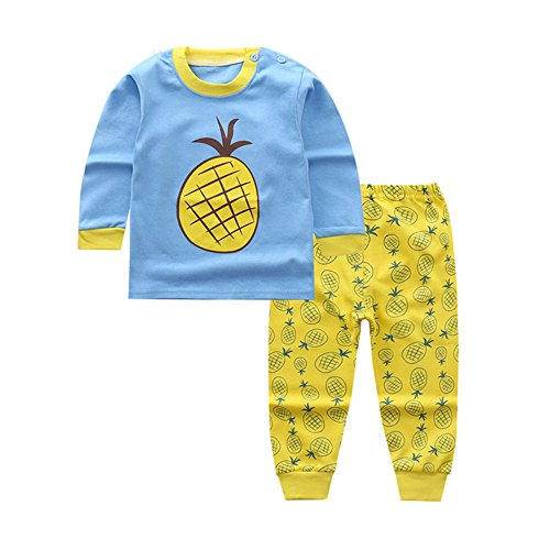 Bold N Elegant - Be Bold Inside & Elegant Outside Baby Boy's Baby Girl's Cotton Tshirt Pant Set (Yellow and Blue, 60 cm, 12 to 18 months)