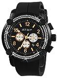 Jet Set - J3873B-267 - Beirut - Montre Mixte - Quartz Chronographe - Cadran Noir - Bracelet Caoutchouc Noir