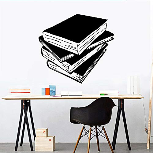 SLQUIET Vinilo de pared libro extraíble arte vinilo pegatinas de pared para...