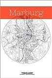 Poster 20 x 30 cm: Marburg Karte Kreis von Campus Graphics