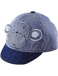 Happy Cherry - Sombreros de Béisbol Gorras de Algodón de Modelo de Mono Lindo con Rayas de Color Azul para Bebés Niños Niñas? XS-L
