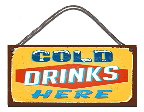 oden Funny Sign Wall Plaque Cold Drinks Here by Gigglewick Gifts ()