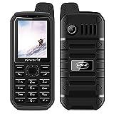 """VKworld Stone V3 Plus Téléphone Portable Robuste Noir 2G GSM 2.4""""141g Double Carte SIM Standard IP54 Quotidien Anti-Poussière étanche 3000mAh 32M + 32M Caméra de 0.3MP Grand Bouton Classique Debloqué"""