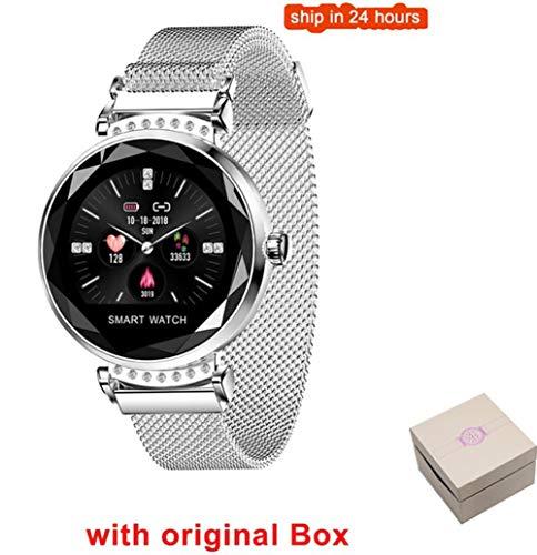 VIWIV H2 Smart Uhr Frauen 3D Glas Diamant Herzfrequenz Blutdruck Schlaf Monitor Smartwatch,2