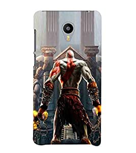 For Meizu M2 Note :: Meizu Note 2 dangerous man ( dangerous man, man, building, pillar, fire ) Printed Designer Back Case Cover By TAKKLOO