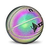 LanBall Pallacanestro, Light Up Basket Size Ufficiale 7, Rainbow Color Sweat-Assorbente Indoor Outdoor Light Riflessione Basket, 6 Tipi di Regali,C