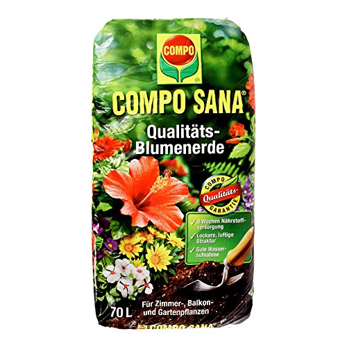 Compo Qualitäts-Blumenerde ,,COMPO SANA®\' 11184 Blumen Erde Cs 70