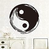zxddzl Chinesischen Stil Wandaufkleber Für Tai Chi Pavillon Abnehmbare Wandtattoos Wasserdichte Vinyl Kunst Aufkleber Poster Kung Fu58 * 58Cm