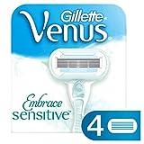 Gillette Venus Embrace Sensitive Rasierklingen für Damenrasierer, 4 Stück