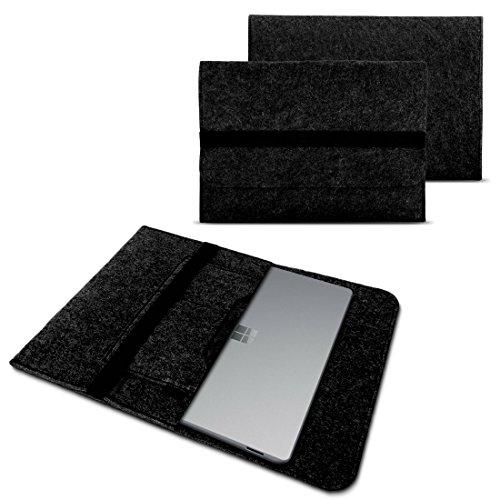 Tablet Schutzhülle für Microsoft Surface Pro 6 - Pro 2017 - Pro 3 - Pro 4 aus strapazierfähigem Filz mit praktischen Innentaschen Sleeve Hülle Tasche Cover Notebook Case Tasche von UC-Express, Farben:Dunkles Grau