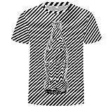 Fenverk Herren Regular Fit T-Shirt Basic Tee Ss Crew Neck Noos Sommer Modernes Kurzarm-Shirt Top Sweatshirt Stehkragen Hoodie Sweater Vintage Slim(Weiß 2,L)