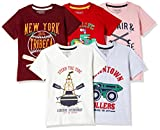 Cherokee Boys' T-Shirt (Pack of 5)(400016980813_Assorted_02Y)
