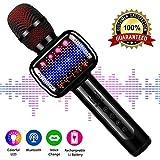 Microfono Karaoke Bluetooth Wireless , Microfono per bambini senza fili con altoparlante Giocattolo portatile palmare Karaoke Mic Machine Music Canta Casa Festa Eco Mic Karaoke per Ragazzi Ragazze