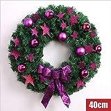 hhlwl Weihnachtskranz Sterne Dekoration Weihnachtskranz Anhänger Weihnachtsschmuck 40/50 / 60Cm, 40Cm