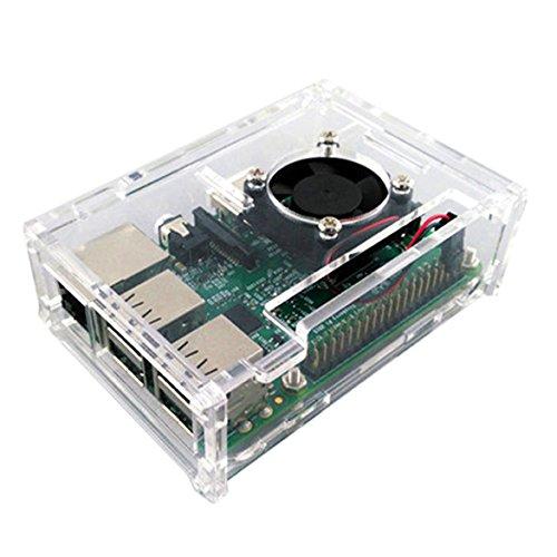 Raspberry Pi 2/3Modell Acryl Shell transparent Schutzhülle mit Fan Kühler