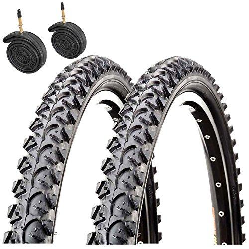 "Raleigh CST T1280 Annupurna 26\"" x 1.95 Mountain Bike Tyres with Presta Tubes (Pair)"