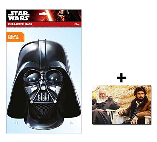 Darth Vader Official Star Wars Single Karte Partei Gesichtsmasken (Maske) Enthält 6X4 (15X10Cm) starfoto