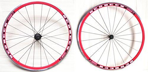REDNECK COMP 7 – Rennrad-Räder, 8/9/10-fach, 20Speichen vorne, 24Speichen hinten, rot, 700C -