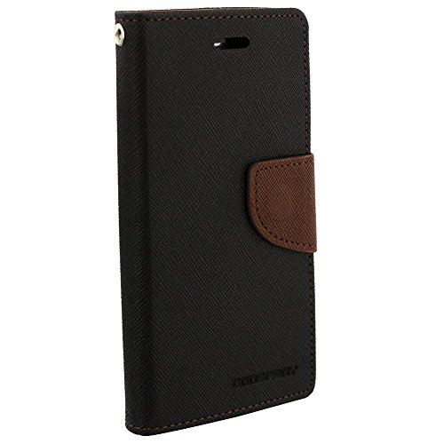 Samsung Galaxy S Duos 7562/ GT7582 Mercury Flip Wallet Diary Card Case Cover (Brown/Black) By Mobile Life  available at amazon for Rs.189
