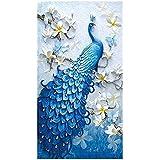 Diamond Embroidery Peacock 5D DIY Diamond Painting,Cross Stitch Diamond Mosaic for Home Decor
