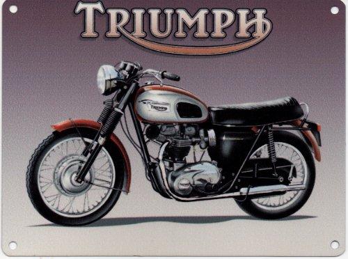 """TRIUMPH Original Metal Sign Co BONNEVILLE-"""", Acciaio, usato  Spedito ovunque in Italia"""