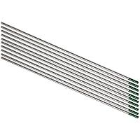 TEN-HIGH Electrodos de tungsteno, WP (verde) Electrodos de tungsteno puro, paquete de 2.4 mm x175 mm 10 piezas