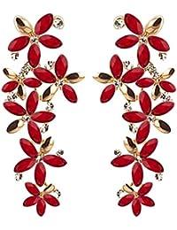 YouBella Jewellery Designer Hanging Fancy Party Wear Earrings for Girls and Women