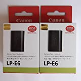 DEMERK , New LP-E6 Battery For EOS 60D 60Da 70D 7D Mk II 6D 5D Mark III 5DSR (Pack Of Two Battery)