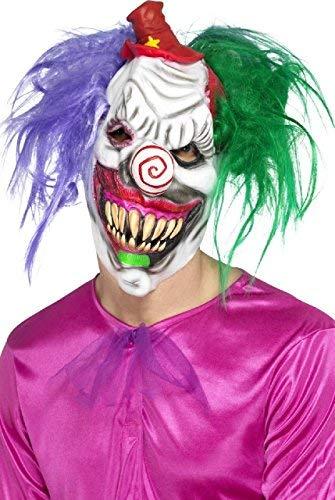Fancy Me Erwachsene Killer Clown Zirkus Tv Buch Film Halloween Horror Unheimlich Latex Kostüm Kleid Outfit Zubehör ()