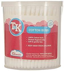 TK Plastic Cotton Swab (200 Pieces, White)