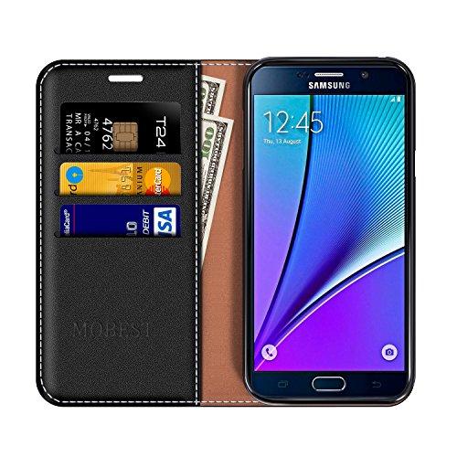 ff419add80c133 Coque Cuir Samsung Galaxy Note 5, Mobesv Étui Housse en Cuir Samsung Galaxy  Note 5 Portefeuille avec porte cartes La Fonction Stand Pour Samsung Galaxy  Note ...
