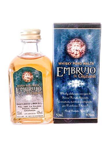 Botellita miniatura whisky Embrujo