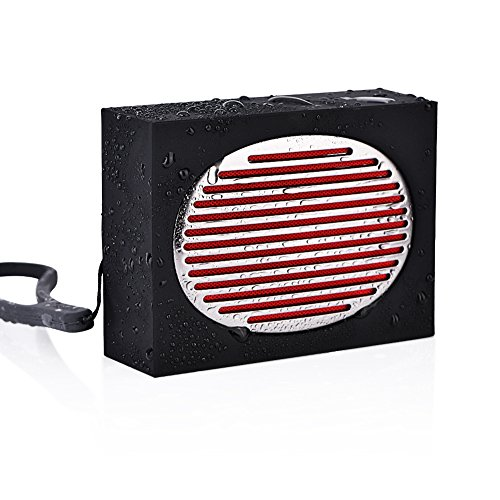 Waterproof Outdoor Portable Speaker( Bluetooth 4.2, IPX5 Water-Resistant)Stereo Speaker for Outdoors, Cycling, Camping & Shower