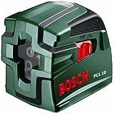 Bosch PCL 10 - Nivel láser de líneas cruzadas, color verde