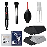 """LS Photography Photo Camera Cleaning Brush Kit Cleaning Set for DSLR Cameras, Lens and Sensitive Electronics with (6 PCS.) 6"""" x 7"""" SuperFiber Lens Cleaning Cloth, LGG169"""