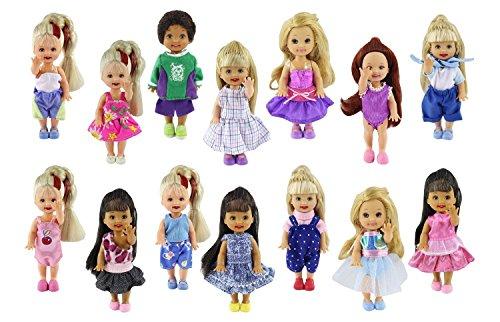 CS Mode Kleidung Kleid Outfit for Barbie's sister Kelly Doll,Barbie puppen für Kid Geburtstag (Barbie Geburtstags-outfit)