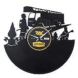 Feuerwehr Geschenkidee Uhr aus Vinyl Schwarz ...Vergleich