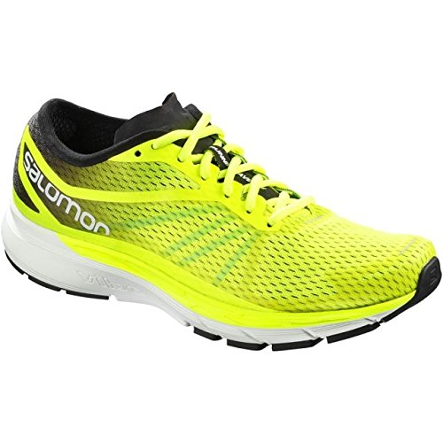 Salomon Sonic RA Pro, Zapatillas de Trail Running para Hombre, Amarillo (Safety Yellow/Black/Bluebird 000), 45 1/3 EU