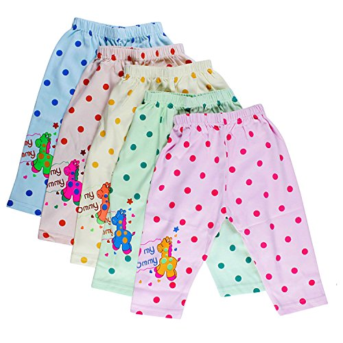 Littly Unisex Cotton Pyjama Bottom (Pack of 5)(10178_Multicolor_3-6 Months)