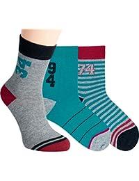 Vitasox Kinder Socken Baumwolle für Jungen Mädchen Kindersocken Jungensocken Mädchensocken ohne Naht bunt 3er und 6er Pack