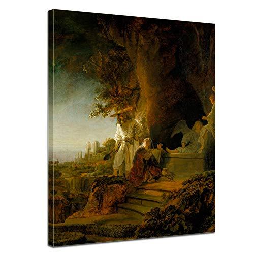 Bilderdepot24 Leinwandbild - Rembrandt - Christus erscheint Maria Magdalena - 50x70cm einteilig -...