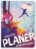 Häfft PLANER Pocket A5 2017/2018 [Parkour] Fadenheftung, Hausaufgabenheft/Schülerkalender/Schüler-Tagebuch/Schülerplaner