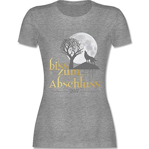 Abi & Abschluss - Biss zum Abschluss 2017 - tailliertes Premium T-Shirt mit Rundhalsausschnitt für Damen Grau Meliert