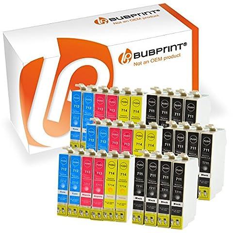 Bubprint 30 Druckerpatronen kompatibel für Epson T0711-14 black cyan magenta yellow