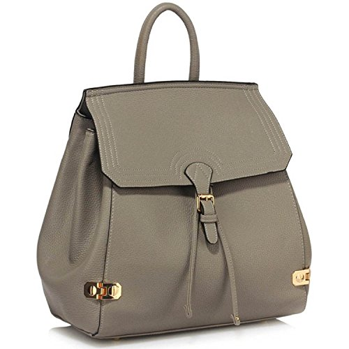 L And S Handbags, Borsa a zainetto donna Grey