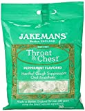 Jakemans Throat And Chest Lozenges, Peppermint, 30 Count