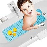 antiscivolo in gomma naturale Tappetino da bagno con ventose e punti di massaggio antiscivolo 50 x 50 cm antibatterico per vasca da bagno e doccia
