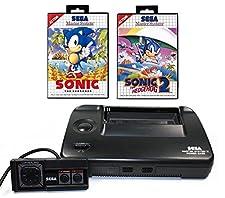 SEGA Master System 2 - Konsole mit den Spielen Sonic 1 und 2